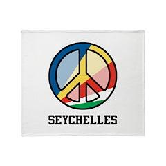 Peace In Seychelles Throw Blanket