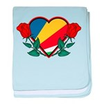 Heart Seychelles baby blanket