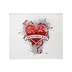 Heart Seychelles Throw Blanket