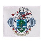 Seychelles Coat Of Arms Throw Blanket