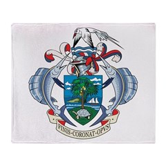 Seychelles Coat Of Arms Throw Blanket