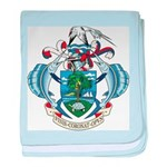 Seychelles Coat Of Arms baby blanket