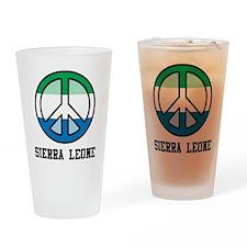 Peace In Sierra Leone Pint Glass