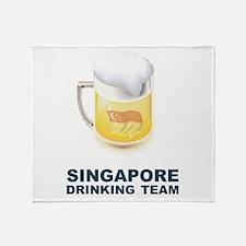 Singapore Drinking Team Throw Blanket