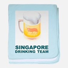 Singapore Drinking Team baby blanket