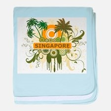 Palm Tree Singapore baby blanket