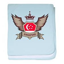 Singapore Emblem baby blanket