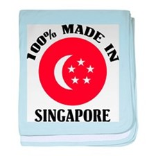 Made In Singapore baby blanket
