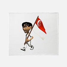 3D Singapore Throw Blanket