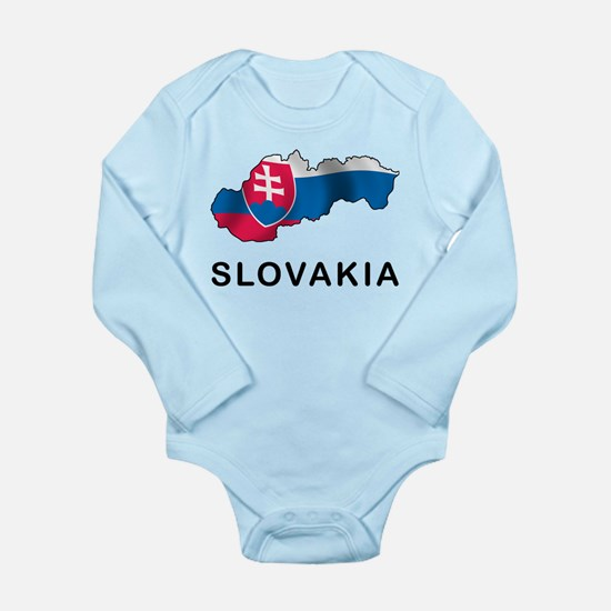Map Of Slovakia Long Sleeve Infant Bodysuit