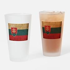 Vintage Slovakia Flag Pint Glass