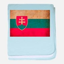 Vintage Slovakia Flag baby blanket
