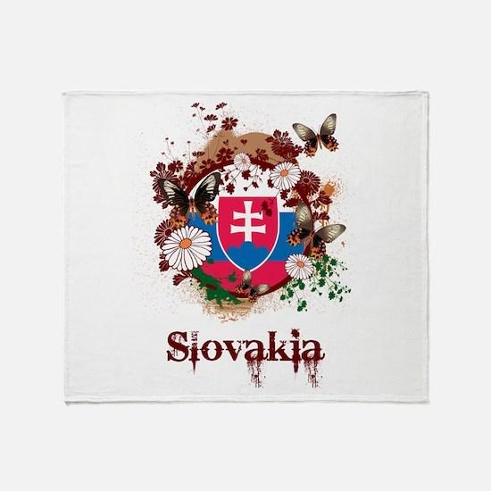 Butterfly Slovakia Throw Blanket