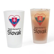 Happily Married Slovak Pint Glass