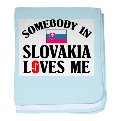 Somebody In Slovakia baby blanket