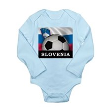 Slovenia Football Long Sleeve Infant Bodysuit