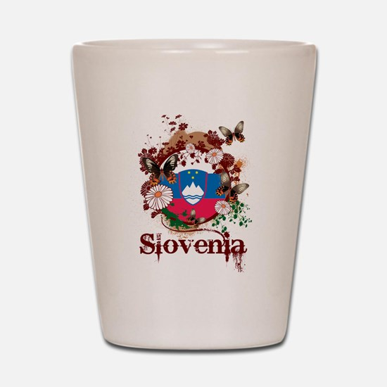 Butterfly Slovenia Shot Glass