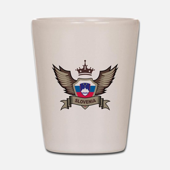 Slovenia Emblem Shot Glass