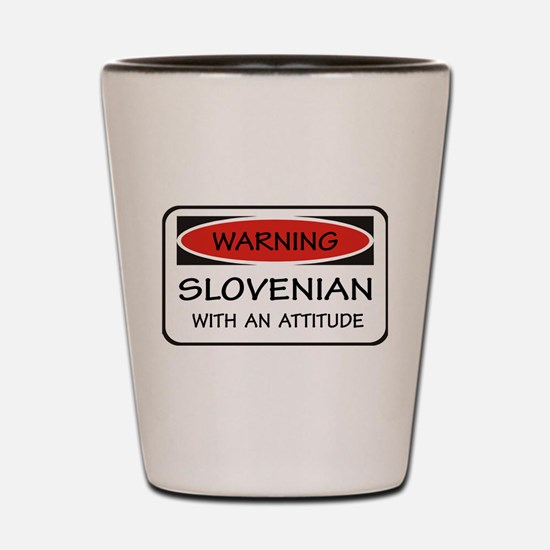 Attitude Slovenian Shot Glass