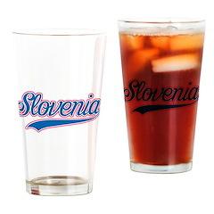 Retro Slovenia Pint Glass