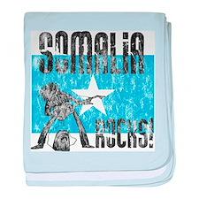 Vintage Somalia Rocks baby blanket