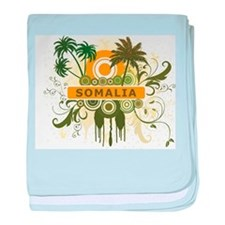 Palm Tree Somalia baby blanket