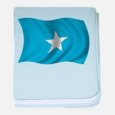 Wavy Somalia Flag baby blanket