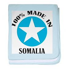 Made In Somalia baby blanket
