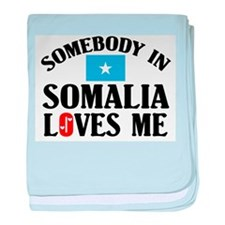 Somebody In Somalia baby blanket