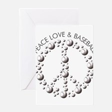 Love Peace Baseball Greeting Card