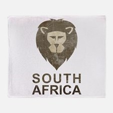 Vintage South Africa Throw Blanket
