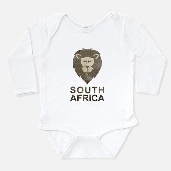 Vintage South Africa Long Sleeve Infant Bodysuit