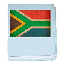 Vintage South Africa Flag baby blanket