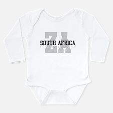 ZA South Africa Long Sleeve Infant Bodysuit