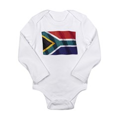 Wavy South Africa Flag Long Sleeve Infant Bodysuit
