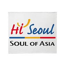 Seoul Flag Throw Blanket