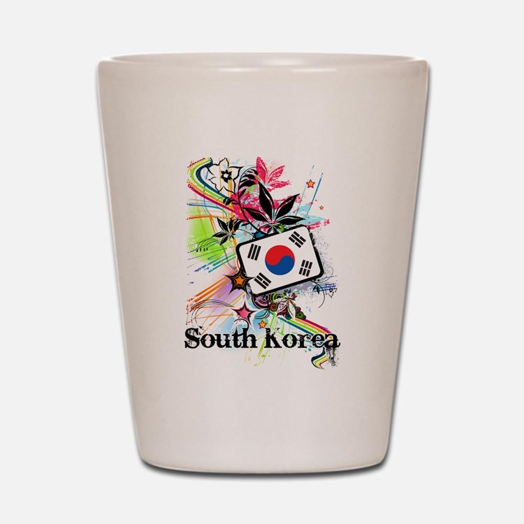 Flower South Korea Shot Glass