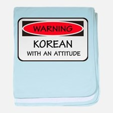 Attitude Korean baby blanket