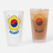 South Korea Coat Of Arms Drinking Glass