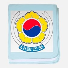 South Korea Coat Of Arms baby blanket