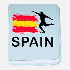 Spain Football baby blanket