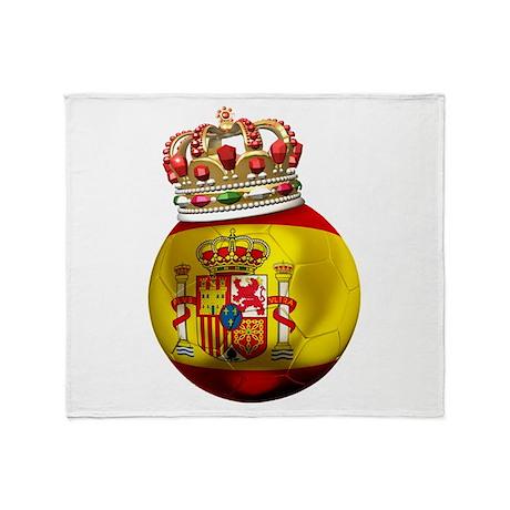 Spain Football Champion Throw Blanket