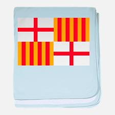 Barcelona Flag baby blanket