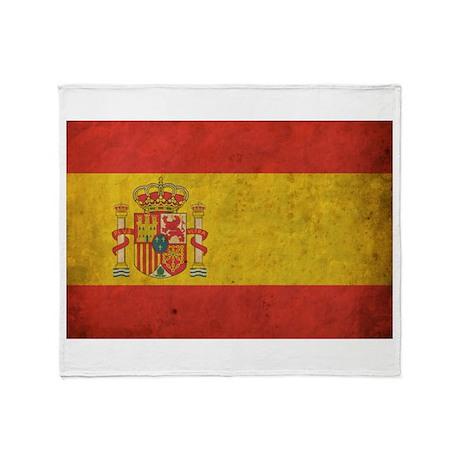 Vintage Spain Flag Throw Blanket