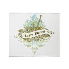 Spain Rocks Throw Blanket