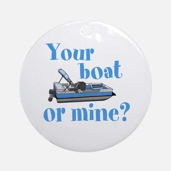 Your Boat or Mine? Round Ornament