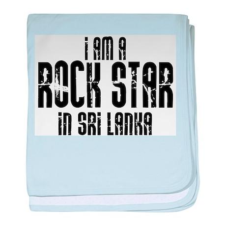 Rock Star In Sri Lanka baby blanket