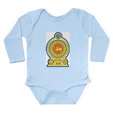 Sri Lanka Coat Of Arms Long Sleeve Infant Bodysuit