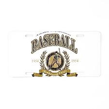 Baseball Retro Aluminum License Plate