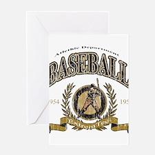 Baseball Retro Greeting Card